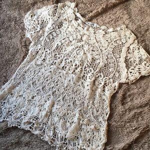 Crochet lace oversized swimsuit coverup!